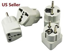4PCS US USA To EU Europe EURO Travel Plug Charger Power Converter Adapter 2 IN 1