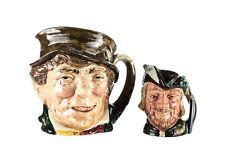 2pc Royal Doulton Paddy D5753 Large, Robin Hood D6534 Small Toby Jug Mug