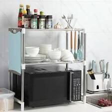 2  Tiers Microwave Oven Rack Holder Kitchen Tools Storage Stand  Shelf Organiser