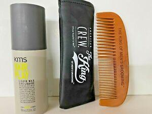 KMS California Hair Play Liquid Wax (Strong Gel Hold ,Wax-Like 3.3 oz + Comb