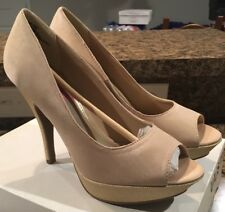 """UNLISTED by KENNETH COLE Nude 5"""" FINEST HOUR Peep Toe Pumps Shoes Size 9 NWB"""