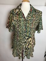 Women's Maggie Barnes Blouse Size 2X (22-24W) Animal Print