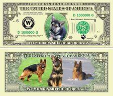 German Shepherd Puppy Dog Classic-Style Million Dollar Funny Money Novelty Note