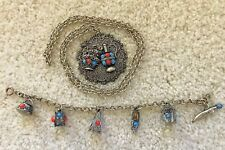 And Bracelet Silver Necklace