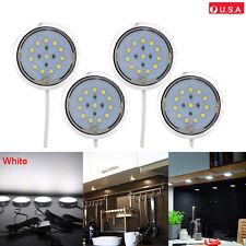 4PCS Kitchen Counter Under Cabinet Cool White LED Light Puck Energy Saving Kit
