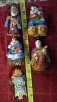 Lot of 5 Vintage KUTANI Porcelain Figurines - Japanese Figurines