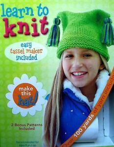 Learn To Knit Kit  Make This Hat  Ages 8 & Up   Leisure Arts