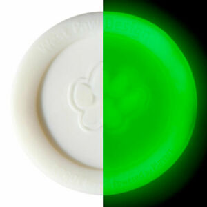 """West Paw Zisc Glow in the Dark Disc in Small 6.5"""" or Large 8.5"""" Made in the USA"""
