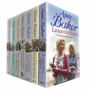 Anne Baker 7 Books Collection Set Liverpool Love Song, Daughters of the Mersey.