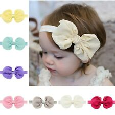 "12 Pcs 5"" Girls Grosgrain Ribbon Boutique Bows Headbands For Baby Girls"