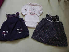 Lot 2 robes + body Sergent Major - taille 3 mois