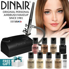 Dinair Airbrush Foundation Makeup Kit Pro | 10pc Make-Up Set | Medium Shades