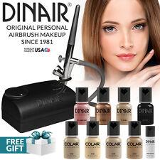 Dinair Airbrush Foundation Makeup Kit Pro   10pc Make-Up Set   Medium Shades