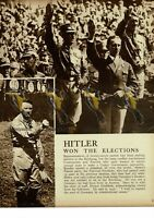 Hitler Won The Elections, 1930, Book Illustration, 1938