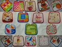 """Hot pot holder Kitchen quilted Oven 8"""" x 8"""" square CHOICE MULTI COLORS     T31a"""