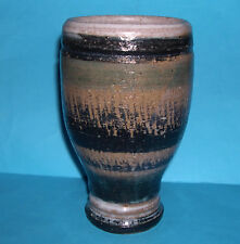 Studio Pottery - Attractive Stoneware - Abstract Design - Tall Quality Vase.