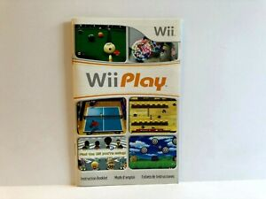 Wii Play Nintendo Wii MANUAL ONLY Authentic Insert FRENCH