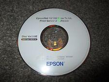 EPSON EpsonNet 10/100 base TX INT Print Server 2 Software CD