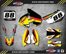 Full Custom Graphic Kit THERMAL STYLE SUZUKI RM 250 1999 2000 stickers decals