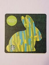 STARBUCKS Gift Card 2019 Die Cut Bunny Rabbit Happy Easter Green Blue $0 Value