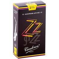 Vandoren ZZ Alto Saxophone Reeds Strength - 2.5, Box of 10