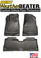Husky 98131 Weatherbeater Front & Rear Floormats 10-16 Chevy Equinox GMC Terrain