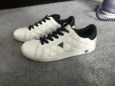Womens White Guess Trainers Size 5
