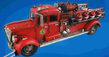 Feuerwehrwagen Antik Eisen L.50x18x16cm limitiert Vintage Sammler Geschenk