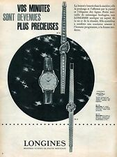 ▬► PUBLICITE ADVERTISING AD Montre Watch LONGINES Flagship 1961