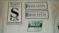 Lot of 4 New Racing Decals/Stickers Grand-Am Cup Rolex Series Super Grand Sport