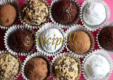 "☆Chocolate Peanut Butter Cream Cheese Truffles ""RECIPE""!☆Bite-Size Decadence!!!☆"