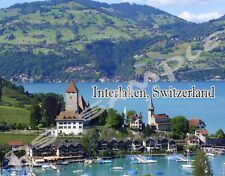 Switzerland - INTERLAKEN - Travel Souvenir Flexible Fridge Magnet