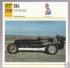 1937 1938 1939 ERA E.R.A. Type R4C/R4D Race Car Photo Spec Sheet French Card