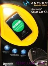New! Anycom Solar - Hands Free Bluetooth Car Kit - Sck1