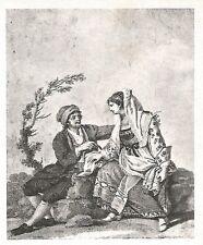 D0477 Costumi di Castiglione Messer Raimondo - Stampa d'epoca - 1940 old print