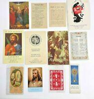 Lot 12 Vintage Catholic Religious Devotional HOLY Prayer Card Cards & Booklets