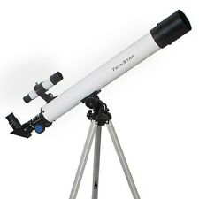 50mm 75x Power Refractor Telescope Achromatic Objective Lens, 600mm Focal Length