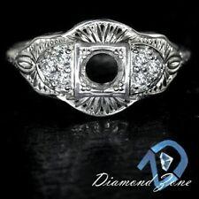 VINTAGE SEMI MOUNT 4MM SETTING 1/4ct DIAMOND G SI ART DECO STLE DESIGN RING