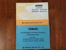 Vintage yamaha Snowmobile owner's manual sl292c/gp292b ski-doo moto ski mf