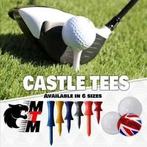 Castle Golf Tees Tee - All Colours/Sizes - Great Price & Quality FREE FAST POST
