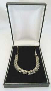 Sterling Silver Greek Key Necklace