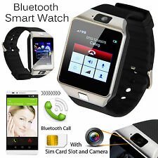 DZ09 Bluetooth Smart Watch Phone + Camera SIM Slot For Android Smart Phones