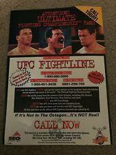 Vintage 1996 UFC FIGHTLINE Poster Print Ad KEN SHAMROCK DAN SEVERN OLEG TAKTAROV