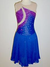 CUSTOM MADE TO FIT Stunning Figure Skating Ice Dancing Dress w/CRYSTALS