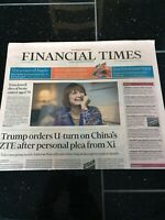 Tessa Jowell Obituary Front Page Politician Newspaper Financial Times 14/05/2018