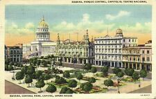 cuba, HAVANA HABANA, Central Park & Opera House, Theater (1941)