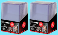 20 Ultra Pro 3x4 260PT SUPER THICK TOPLOADERS Standard Size Sports Card Rigid
