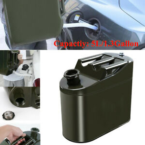 5L Motorcycle Spare Portable Fuel Tank Barrel Tank Car Petrol Oil Container Can