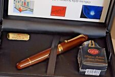 FOUNTAIN PEN AURORA 800 MAFF- 88 ANIVERSARY MARRON BROWN