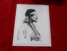 Jimi Hendrix~ 8 X 10 Hand Drawn Glossy Photo By Gary Burnside~Rare~ Mint~ Rock